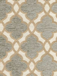 A medium scale quatrefoil design in a tri-color combination of grey, cream and tan, Lucky Charm in Pewter offers a balance of whimsy and nostalgia for residential upholstery use. Latex backed for stability.