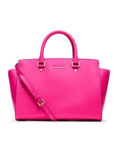MICHAEL Michael Kors  Large Selma Top-Zip Satchel. $358