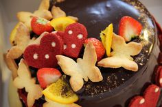 butterfly theme-chocolate chess board cake