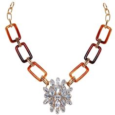 Tortoise Crystal Statement Necklace - $48.00