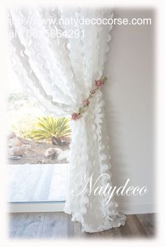 Voile Curtains, Shabby Chic Curtains, Floral Curtains, Shabby Chic Bedrooms, Curtains With Blinds, Panel Curtains, Rideaux Shabby Chic, White Kitchen Curtains, Farmhouse Window Treatments