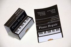 Piano Repair: 100 (Really) Creative Business Cards Folded Business Cards, Business Card Maker, Business Cards Layout, Elegant Business Cards, Professional Business Cards, Web Design, Design Ideas, Business Card Design, Creative Business