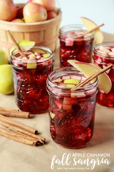 Apple, Cinnamon, Ginger, Red Wine, combined into the most perfect fall cocktail! Apple Cinnamon Sangria will be your go to drink this bonfire & hayride season!