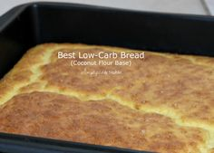 Recipe: Best Low-Carb Bread (Coconut Flour base) - Simplified and Stable Easy Zucchini Recipes, Broccoli Soup Recipes, Low Carb Vegetarian Recipes, Healthy Soup Recipes, Low Carb Recipes, Bbq Zucchini, Healthy Cooking, Healthy Eats, Smoothie Recipes