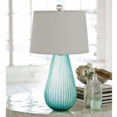 Seaglass Art Lamp