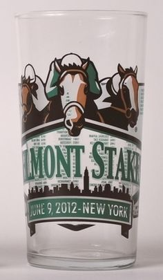 2012 Belmont Stakes Collector's Glass 4-Pack