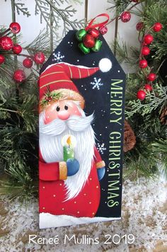 50 Creative & Classy DIY Christmas Table Decoration Ideas - The Trending House Merry Christmas Santa, Diy Christmas Tree, Christmas Signs, Christmas Projects, Vintage Christmas, Christmas Ornaments, Country Christmas, Simple Christmas, Santa Paintings