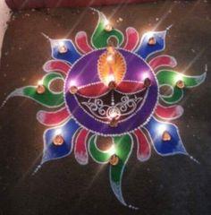 Rangoli Patterns, Rangoli Ideas, Indian Rangoli, Rangoli Designs Diwali, Diwali Rangoli, Rangoli With Dots, Simple Rangoli, Paper Flowers Craft, Flower Crafts