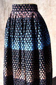 vintage atomic polka-dot skirt via deadlyvintage.com