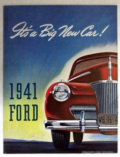 Ford 1941 Its a Big New Car Sales Brochure