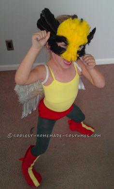 Coolest Homemade Hawk Girl Costume... Coolest Halloween Costume Contest