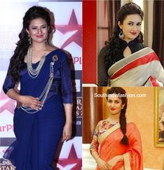 aa87b864b0a30c Divyanka Tripathi (Ishita) Saree Blouse Designs in Yeh Hai Mohabbatein