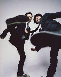 Elijah Wood & Liev Schreiber by Ben Watts