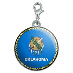 Oklahoma State Flag Stainless Steel Pet Dog ID Tag *** Check this awesome product by going to the link at the image.