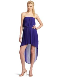BCBGeneration Women's Pleat High Low Dress: Disclosure:affiliate link