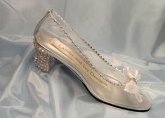 Glass Slipper Cinderella Shoes, Crystal Heels, Clear Shoes, Glass Wedding Shoes, Cinderella Bride