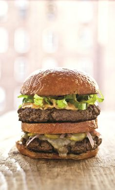 the chew | Recipe  | Michael Symon's Big Mike Burger, Haven't made the sauce but these directions make a tasty burger.