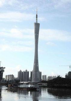 Çin'in güneyindeki Guangzhou kentinde bulunan kule, 610 metre yüksekliğinde...