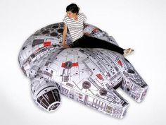 Star Wars Millennium Falcon Bean Bag. Sex on this bed would stoop Solo! HOLY MOLY, I W.A.N.T.!!!!