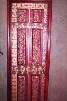 Decoupaged Door