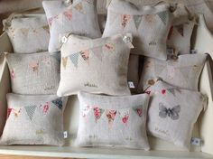 T&Linen Summer 2015 lavender bags with flowers and bunting