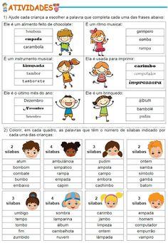Learn Portuguese, Bingo, Kindergarten, Homeschool, Learning, Cards, Sos Professor, Learning Disabilities, Learning Activities For Kids