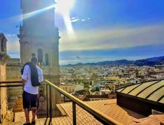 Because Malaga enjoys the warmest winters in Europe and is one of the oldest cities in the world with close to three thousand years of history. Malaga City, Cities, Old City, Sunsets, Paris Skyline, Art Photography, Old Things, Europe, World