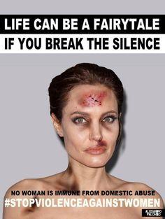 Angelina Jolie défigurée contre les violences faites aux femmes
