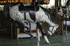 Rare Bucking Bronc carousel.. You don't see too many of these around..