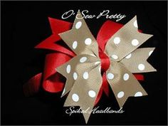 THE CREATE YOUR OWN BACK TO SCHOOL STACKED SPIKED CLASSIC HAIR BOW