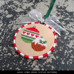 Christmas Cross Stitch Pattern Chart PDF – Ornament – Counted Christmas Gift Idea – Christmas Decorations – Xmas Holiday Décor Craft