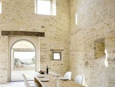 57 Exposed stone wall ideas for a modern interior My desired home Stone Decoration, Rooms Decoration, Luxury Homes Interior, Modern Interior, Interior Architecture, Italian Interior Design, Faux Stone Walls, Brick And Stone, Rustic Italian