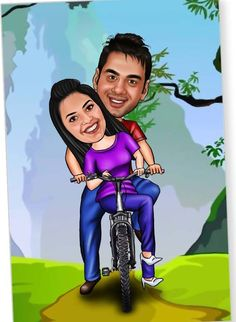 make realistic style CARTOON caricature you and your friend by mayaboti