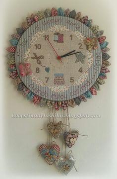 Cute Clock, Cool Clocks, Diy Clock, Wall Clock Hands, Diy Quiet Books, Rose Wallpaper, Fabric Scraps, Pin Cushions, Handicraft