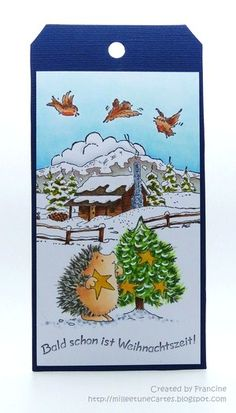 24 tags for Christmas 2013 - Day 9 by Francine - www.1001cartes.ch #cardmaking…