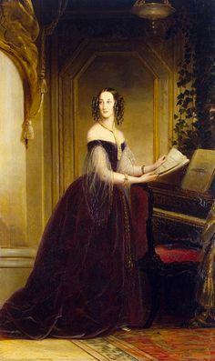 1841 Grand Princess Maria Nikolaievna by Christina Robertson (State Hermitage Museum - St. Petersburg, Russia) shampooed