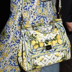 Pixie Lott's lemon print Dolce  Gabbana bag