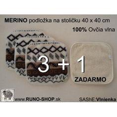 Made from 100% Merino Wool / položky na stoličku zo 100 % ovčieho rúna Merino vzor Vlnka
