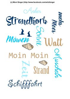 Silhouette plotter file free, Plotter Datei kostenlos, plotter freebie, sailor, sea, ocean,, Meer, Ozean, beach, Wortspiel,  wordart