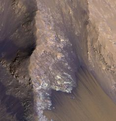 Among the many discoveries by NASA's Mars Reconnaissance Orbiter since the mission was launched on Aug. 12, 2005, are seasonal flows on some steep slopes, possibly shallow seeps of salty water. This July 21, 2015, image from the orbiter's HiRISE camera shows examples within Mars' Valles Marineris.