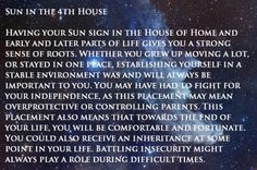 SUN in the 4th House