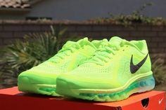 Nike Air Max 2014   Volt / Black   Electric Green   Medium Mint