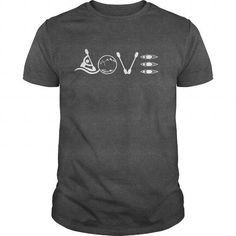 Cool LOVE Kayaking. Shirt; Tee