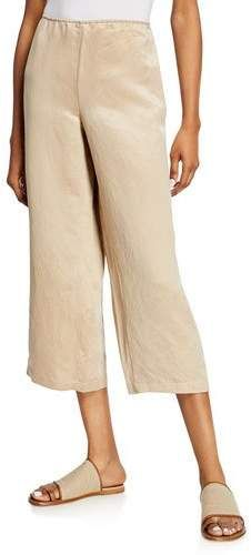 74c7a9dff15936 Eileen Fisher Linen/Silk Wide-Leg Crop Pants Wide Leg Cropped Pants, Eileen