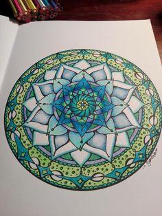 Design bySamdala, from Mandala Mojo Colouring by Nicola Williams