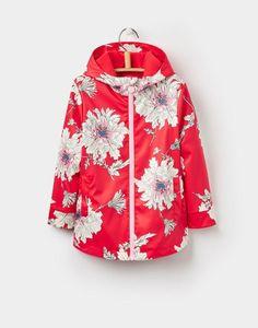 4475c507b Joules Raindance YoungerGirls Waterproof Rubber Coat 1-6yr Peony Print, Red  Peonies, Waterproof