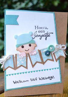 Blomke`s Blog: Twee babykaartjes.