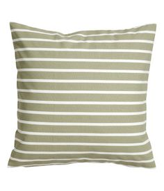 Cotton Cushion Cover - Khaki Green. 20 x 20 in.