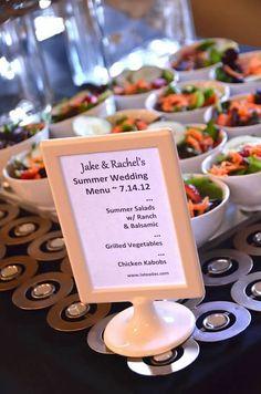 Wedding Reception Menu  by La-Tea-Da's Catering, Charlotte, NC  Copyright Amber S. Wallace Photography