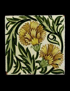 Tile, manufacturer William de Morgan, London, England